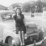 1942-45, Lady on Car Hood